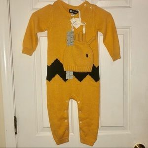 Rare Baby Gap Peanuts Charlie Brown Outfit Set